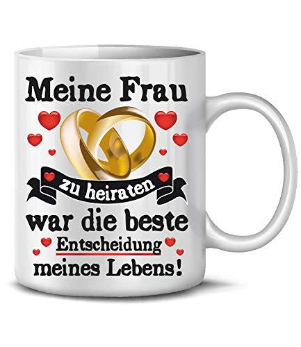 Golebros Meine Frau zu heiraten 6374 Tasse Becher Kaffee Pärchen Partner Geburtstagstag Hochzeitstag Jahrestag Paare Frau