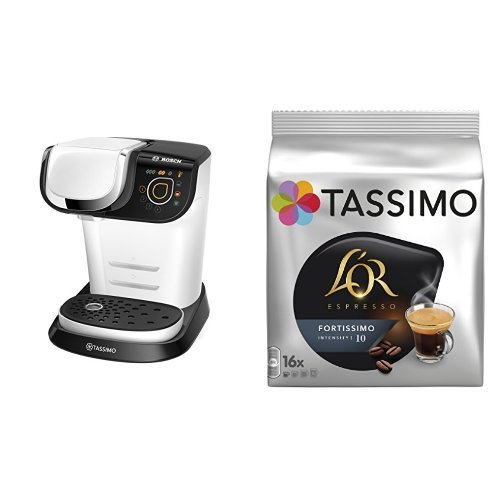 Bosch TAS6004 Tassimo My Way (color blanco) + Pack café 5 paquetes (80...
