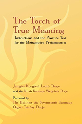 Torch of True Meaning: Instructions and the Practice for the Mahamudra Preliminaries por Jamgon Kongtrul Lodro Thaye