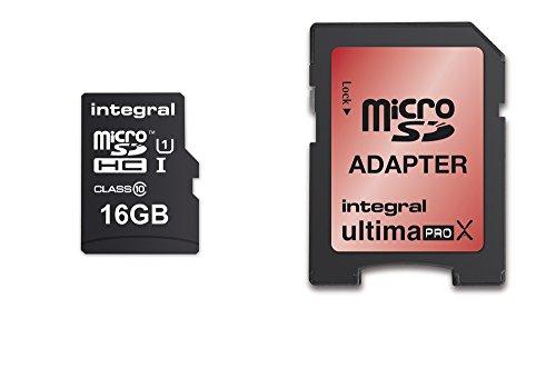 Integral Memory INMSDH16G10-90/45U1 microSDHC Class 10 UltimaPro UHS-1 16GB Speicherkarte (Für Sd-chip Gopro)