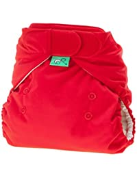 TotsBots PeeNut Waterproof Wrap Size 1 'Poppet'  - Red in Colour  for use with the Bamboozle Nappies