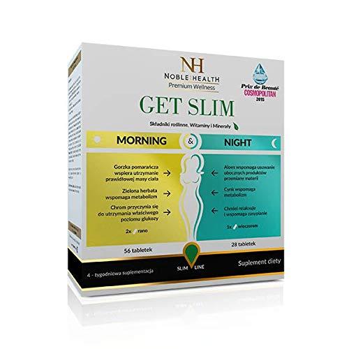 Noble Health Premium Wellnes Abnehmen der Pillen Get Slim Morning & Night, 74 grams -