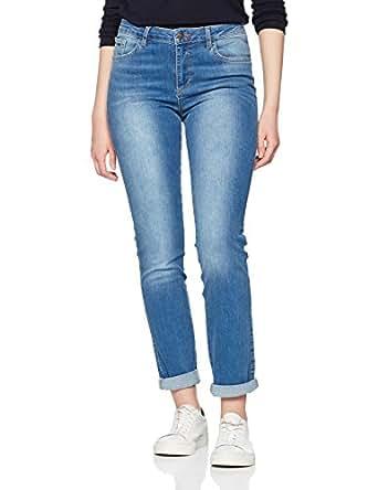 H.I.S Jeans Damen Slim Jeans (schmales Bein) Marylin Blau (Advanced 9152) W26/L31 (Herstellergröße:34/31)