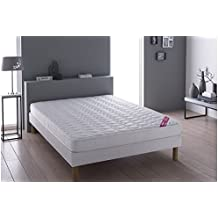 lit 120x190 avec sommier et matelas. Black Bedroom Furniture Sets. Home Design Ideas