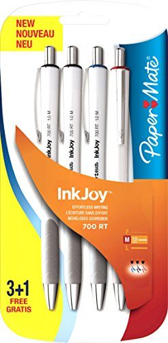 paper-mate-inkjoy-700-rt-stylo-bille-retractable-assortiment-standard-lot-de-4