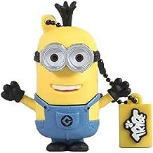 Tribe Los Minions Despicable Me Tim - Memoria USB 2.0 de 8 GB Pendrive Flash Drive de goma con llavero, color amarillo