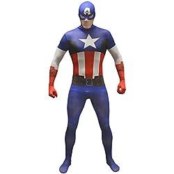 Morphsuits - Disfraz para adulto Capitán América Marvel, talla M (MLCAVM)