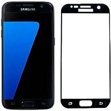 Forepin® Protettiva Vetro Temperato per Samsung Galaxy S7 Ultra Sottile Anti-Scratch Anti-impronte Pellicola Vetro Temperato - Nero