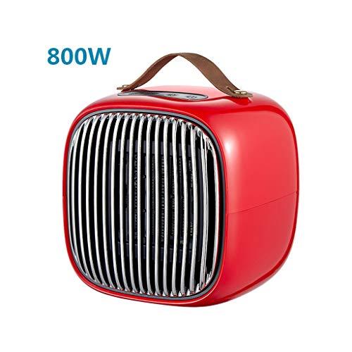 GYF Calefactor eléctrico 800W Calefacción Rojo Mini