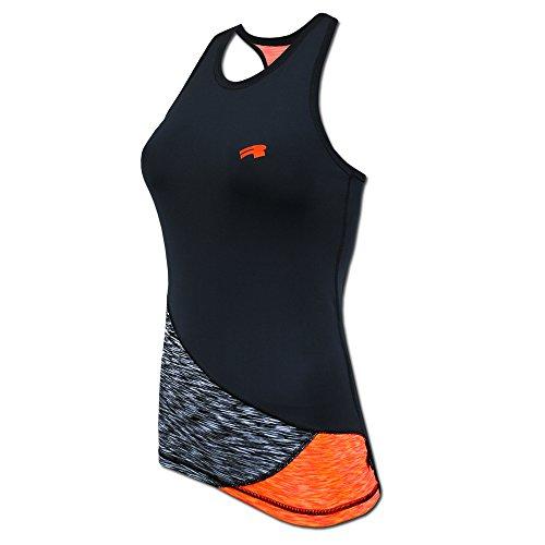 ROUGH RADICAL Damen Funktionsshirt Sportshirt REACTION TANK TOP (S, schwarz/grau/orange)