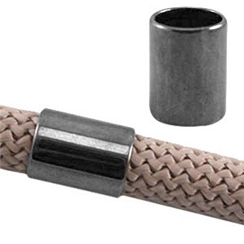 Sadingo DQ Tube métallique – F. 10 mm bandes ronde – Qualité 1 pièce – zamak – européenne Designer – Couleur au choix, gris argenté