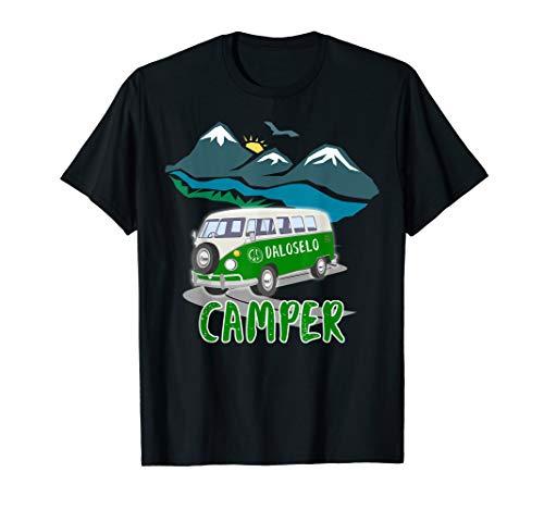Camper - Wohnmobil, Karawane, Berg, Fluss, Sonnenschein, Bus T-Shirt