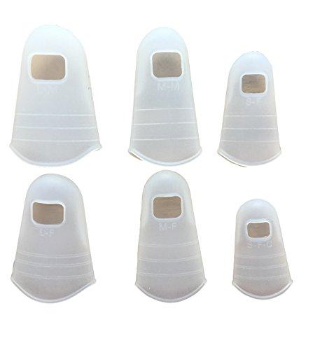 6er Set Silikon Fingerschutz - Universal Fingerkuppen Abdeckungen Schutz-Kappen Hüllen Durchsichtig/Transparent - Ideal für Haushalt Handwerk Malen Gitarre - Handschuhe Ersatz - Wiederverwendbar