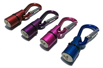 COM-FOUR® 4er Set blinkender LED Anhänger für Ihr Haustier Sicherheits Licht Lampe für Halsband Katze & Hund
