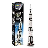 Revell RV03704 03704 Gift Set Apollo 11 Saturn V Rocket (1:96 Scale) Plastic Model kit, Various