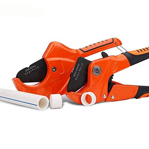 PVC Pipe Cutter Aluminum Alloy Body Ratchet Scissors Tube Cutter Hose Cutting Tools Pipe Scissors - M - Ratchet Pvc Cutter