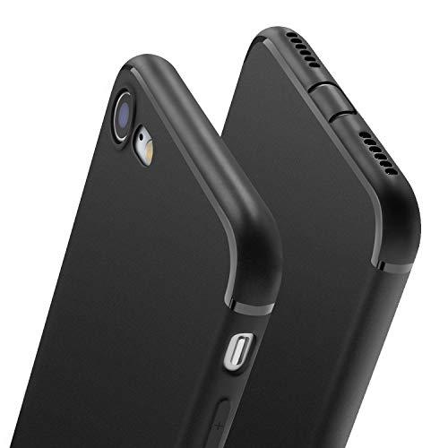 wsky Hülle für iPhone 8 iPhone 7, Handyhülle für iPhone 7 iPhone 8 Ultra Dünn Schutzhülle, Staubschutz, Stoßdämpfend, Anti-Scratch, Soft Cover für iPhone 7/8, Schwarz(4,7 Zoll) -