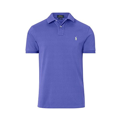 ralph-lauren-polo-uomo-manica-corta-cotone-tinta-unita-a12xz7wuxy7ww-xw7mz-l-blue-liberty