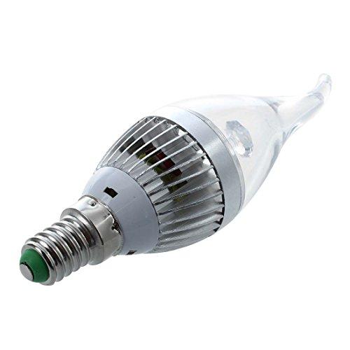 SODIAL(R) 4X E14 3 LED Bombilla 3W Lampara Iluminacion Luz Blanco 10000K