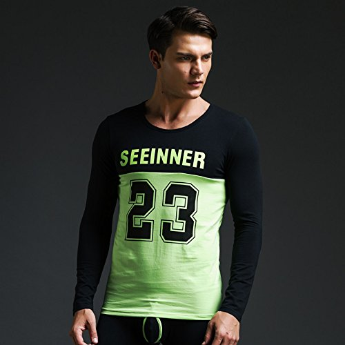 GS~LY confortevoli ed esclusive di intimo uomo Underwear autunno indossare caldo abbigliamento casual sports top , pezzo nero in alto , l  Acquista 2 ottenere 1 gratis