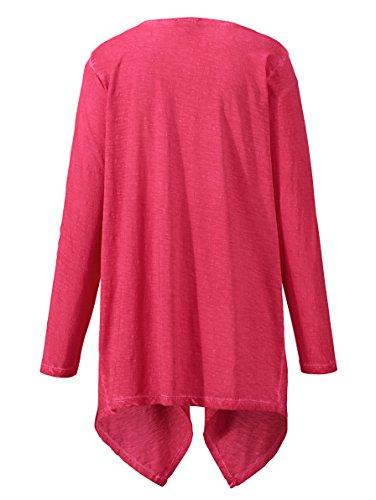 Damen Shirtjacke aus reiner Baumwolle by MIAMODA Pink