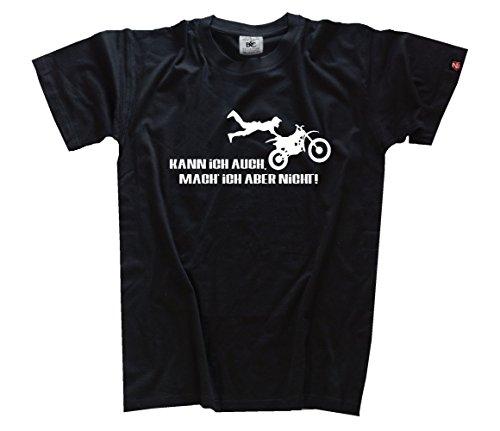 Shirtzshop Erwachsene T-Shirt Original Kann Ich Auch Mach Ich Aber Nicht - Motocross, Schwarz, L, sshop-kann_motx-t hier kaufen
