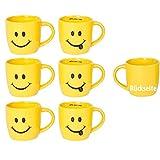 Annastore 6 Stück Tassen mit Smiley-Motiven