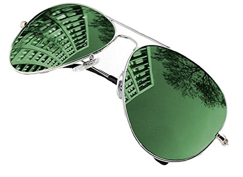 Green Lens Aviators