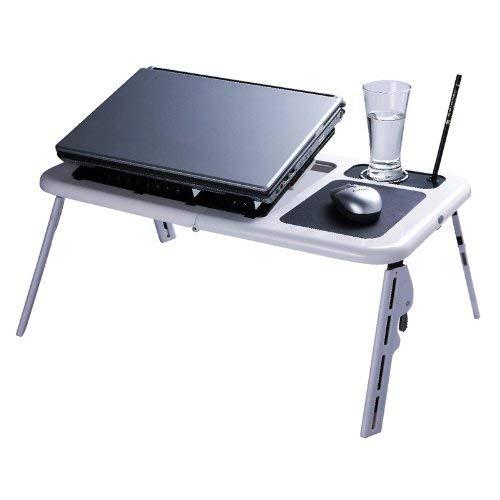 Mesa pequeña de cama para notebook y portátil