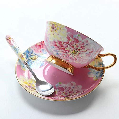 Niiouyt Taza de Cafe Regalo Mugs Tazas de café de Porcelana de Hueso Tazas de cerámica Vintage Tazas de téRegalos