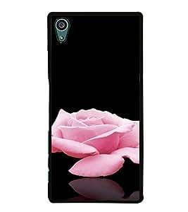 PrintVisa SONZ5-Rose Design Metal Back Cover for Sony Xperia Z5