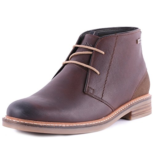 mens-barbour-redhead-leather-chukka-ankle-smart-work-office-boots-shoes-dark-brown-9