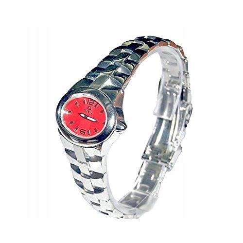 Orologio Breil Donna 2519251584 Al quarzo (batteria) Acciaio Quandrante Rosso Cinturino Acciaio