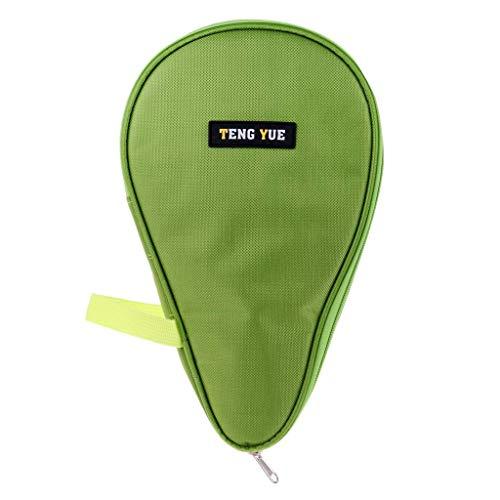 SGerste Wasserdichte Tischtennisschläger-Tasche Aufbewahrungstasche mit Reißverschluss Box Ping Pong Schläger Abdeckung Paddeltasche Schutz für 2 Ping Pong Paddle Schläger, grün