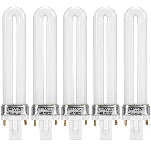 Lámpara de uñas LED portátil, 12W Secador de uñas UV profesional Curado de tubo de luz Herramienta...