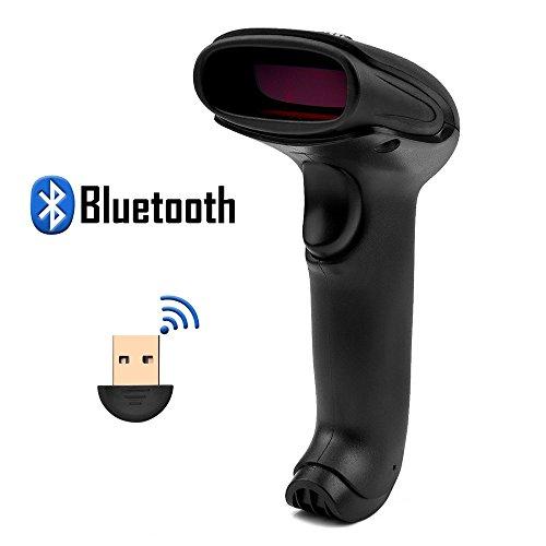 tooth NuoYo Handscanner USB Kabel Barcodelesegerät Wireless, 200 Scans pro Sekunde 3 Mil Unterstützt mit USB Stick und Ladekabel für Android IPhone IPad Computer Notebook ()