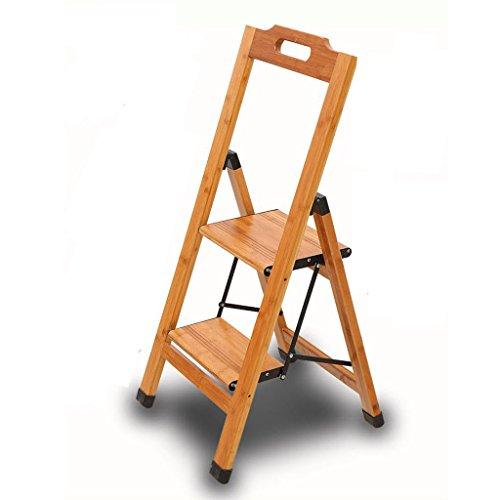 CZWYF Doppelschritt Hocker Bambus Klappleiter Treppenstuhl Haushalt Multifunktions Indoor Haushalt Steigen Kleine Leiter Hocker -