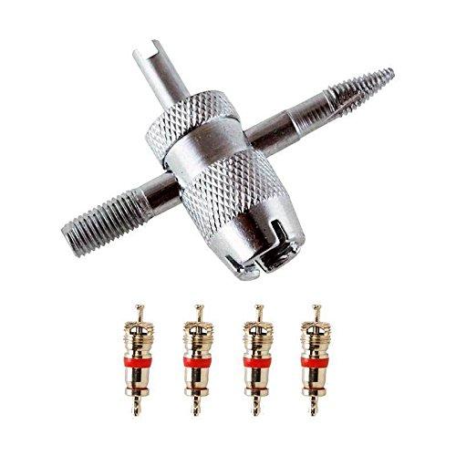 JAIS Ventilschlüssel, Ventileinsatzschlüssel Schlüssel für Ventileinsatz   Ventil Felge   Reifenventil Werkzeug   Reifenventilentferner Ventilausdreher   Autoventil