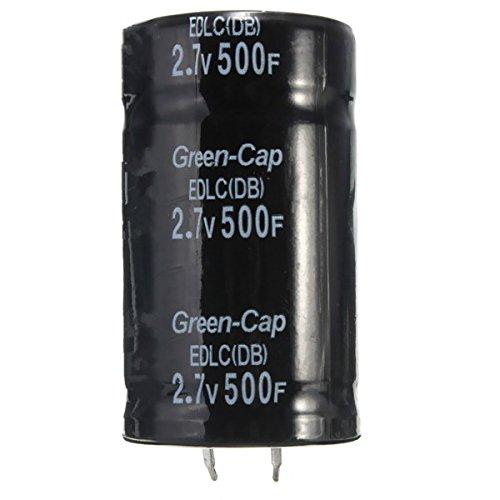 ILS - Schwarz 2.7V 500F 35 x 60 mm Super-Farad Kondensator (Car Audio Kondensator Batterie)