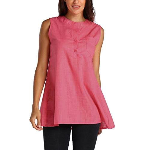 BIRAN-5 Mujer Camisas Fashion Casual Chic Pin-Up Tops Tank Verano...