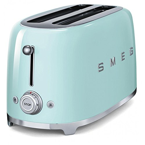 Smeg TSF02PGUK KLF03PGUK | 50's Retro Style Aesthetic | 4 Slice Toaster and Kettle Set in Pastel Green