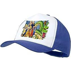 MERCHANDMANIA Gorra Azul DBZ Super SAIYAJINS Shenron Dragon Color Cap