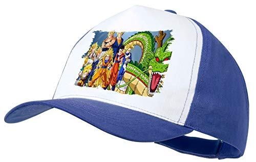 MERCHANDMANIA Gorra Azul DBZ Super SAIYAJINS Shenron Dragon Color Cap 2dd18386d0c