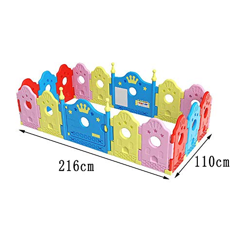 GYH Safety Fence,Indoor And Outdoor Playpens Room Dividers Children's Crawling Fence Safety Fence ( Size : 216*110cm )