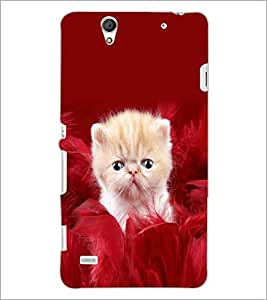 PrintDhaba Cute Kitten D-5508 Back Case Cover for SONY XPERIA C4 (Multi-Coloured)