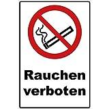 Schild Rauchen verboten Schild Verbotszeichen Mehrfarbig 30 x 20 x 0,3 cm Hartschaumplatte Rauchverbot Schild, Nichtraucher Schild P002 - Rauchen-verboten