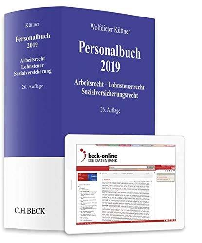 Personalbuch 2019: Arbeitsrecht, Lohnsteuerrecht, Sozialversicherungsrecht