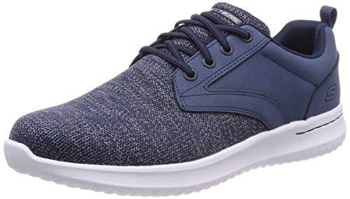 Skechers Herren Delson-Fonzo Sneaker, Blau (Navy NVY), 47.5 EU -