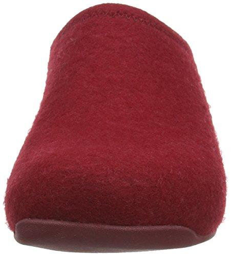 Fitflop Shuv Felt, Zoccoli donna Red (Hot Cherry)