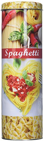 Kesper Spaghettidose, hohe Nudeldose, hohe Metalldose, aus Metall, Höhe: 270 mm, Durchmesser: 85 mm, sortiert